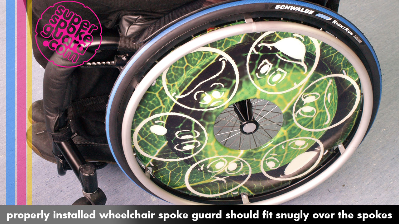 Wheelchair Spoke Guard Installation