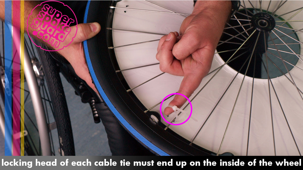 Wheelchair Spoke Guard Assembly Instruction